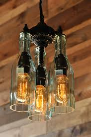 Unique Handmade Lamps Gothic Pop Chandelier Glam With Soda Pop Bottles Bottle Glass