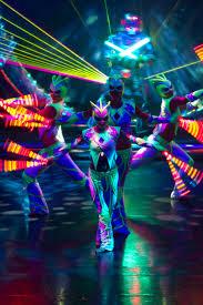 Lazer Light Luminous Laser Light Dance Show Streets United