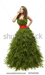 tree dress fashion model stock photo 335108177