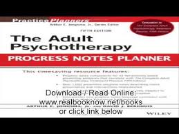 the psychotherapy progress notes planner pdf youtube