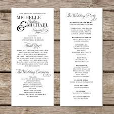 Examples Of Wedding Program Examples For Wedding Programs Finding Wedding Ideas