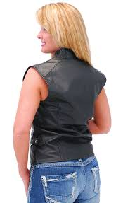 denim motorcycle jacket women u0027s black leather sleeveless motorcycle jacket vest ls13090k