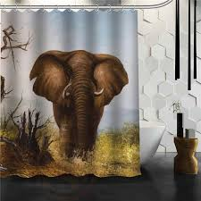 custom classic elegant elephant bathroom waterproof shower curtain