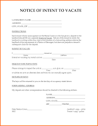 Notice To Vacate Apartment Letter Intent To Vacate Letter Soap Format
