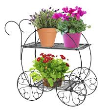 amazon com cobraco two tiered garden cart fc100 plant stands