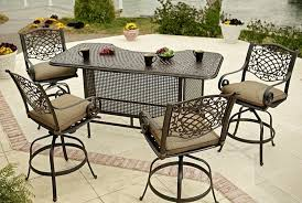 Patio Bar Height Table And Chairs by Outdoor Swivel Bar Stools Counter Height Babytimeexpo Furniture