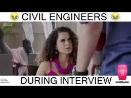 Funny Engineering Memes - civil engineer interview most funny dialogue youtube