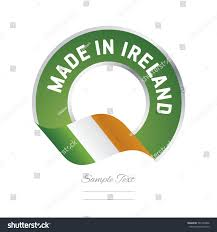 Color Of Irish Flag Made Ireland Flag Green Color Label Stock Vector 581292406