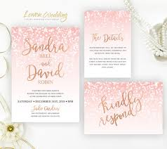 cheap wedding invitations packs pink and gold invitations packs printed on shimmer card