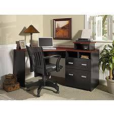 Bush Furniture Wheaton Reversible Corner Desk Wheaton Reversible Corner Desk In Antique Black