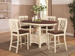 White Kitchen Set Furniture by Addison White And Cherry Wood Pub Table Set Steal A Sofa