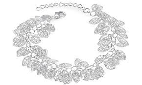 silver leaf bracelet images Solid sterling silver filigree leaves bracelet by jewelry elements jpg