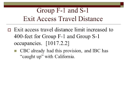 California travel distance images Ibc 2009 exit access travel distance jpg