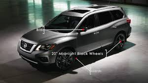 nissan armada with black rims 2017 nissan pathfinder midnight edition youtube