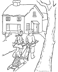 winter coloring sheet kid 022