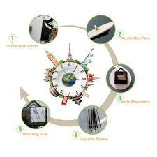 aliexpress com buy 3d wall clocks room decal wall stickers mute