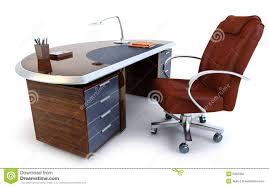 bureau du directeur rendu du bureau 3d du directeur illustration stock illustration du