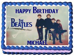 beatles cake toppers the beatles edible frosting sheet cake topper 1 4