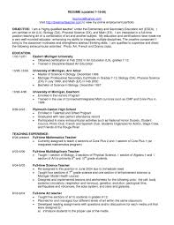 resume objective exle resume exle special education objectives for