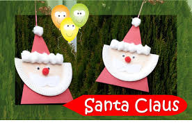 santa claus paper plate series youtube