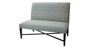 furniture curved gray upholstered bench decor with contemporary