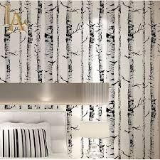 black white birch tree wallpaper vinyl bedroom living room