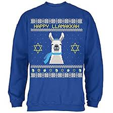happy hanukkah sweater llama llamakkah hanukkah sweater royal
