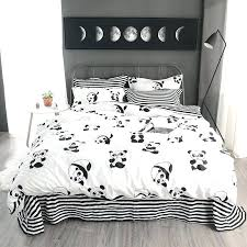Ruffle Bed Set Black Ruffle Duvet Cover Princess White Duvet Covers Queen Cute