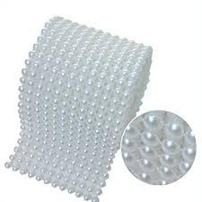 aspire pearl party decorations pearl mesh ribbon 10