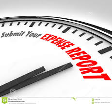 submit submit your expense report words clock deadline time stock