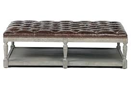 t4blisshome page 12 coffee table with ottoman black leather