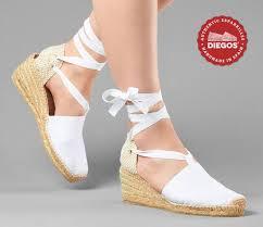 espadrille mariage espadrilles blanches à haut talon compensé chaussures pour mariage