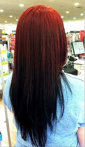 opposite frosting hair kit ombre hair red to black reverse google search hair nails