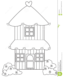 two storey house coloring page stock illustration image 53482164