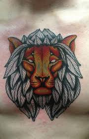 gallery for u003e traditional lion with wings tattoo lion with wings