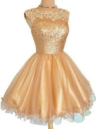 gold party dress buy a line scoop organza sequin gold homecoming