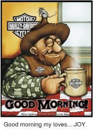 Harley Davidson Meme - hart david motoad reation good morning harley davidson greetings