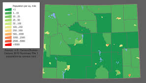 map of colorado by population wyoming population density 700x400 mapporn