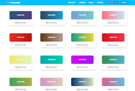 gradient buttons with hover effects