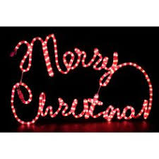 Christmas Rope Lights Ebay by Outdoor Display Lights Merry Christmas Rope Lights Silhouette