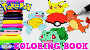 pokemon coloring book pikachu charmander episode speed colouring