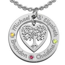 Necklace With Kids Names 39 Best Family Tree Birthstone Necklace Images On Pinterest