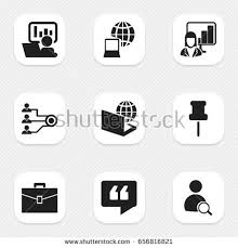icon bureau set 9 editable bureau icons includes stock vector 656816821