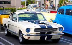 white mustang blue stripes 1966 ford mustang gt350 fast back white with blue racing flickr