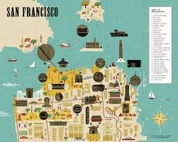 san francisco map city scratch map san francisco a sightseeing scavenger hunt