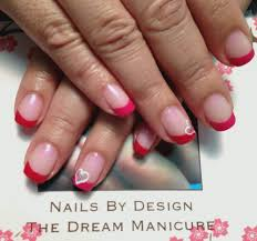 the classic french but using shellac u0027s red baroness on the tips
