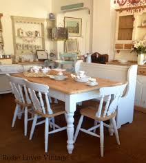 Old Farmhouse Kitchen Cabinets Farmhouse Table And Chairs Painted In Annie Sloan Old White