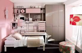 creative loft bedroom interior in pink decoration of teenage