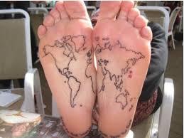 World Map Tattoo 80 Fantastic Map Tattoos