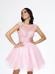 women summer dress short pink prom dress 2017 ball gown scoop cap